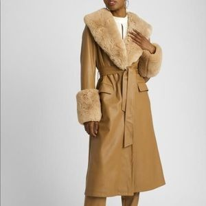 Choosy coat  - faux leather and fur